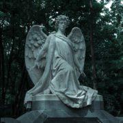 Vvedensky Cemetery angel. Moscow