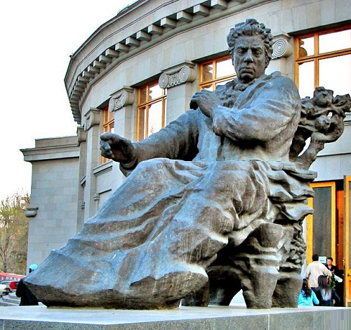 Yerevan monument to the outstanding composer