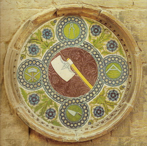Emblem of the Masters of Stone and Timber. c. 1440-1445