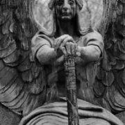 Haserot Black Angel monument