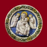 Madonna and Child. Majolica. About 1455