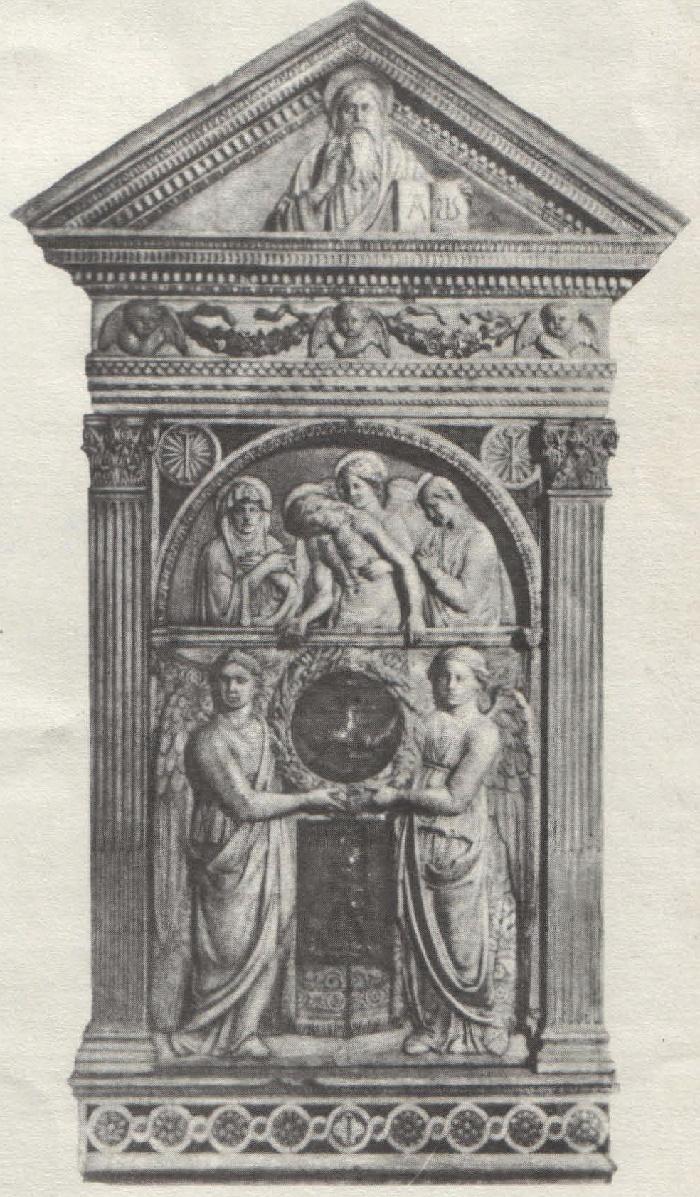 Work by Italian Renaissance sculptor Luca della Robbia