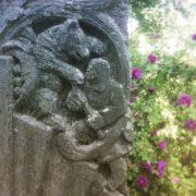 Bear. Detail of the gravestone of the writer Alexei Chapygin (1870-1937). Sculptor LA Dietrich, 1940