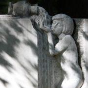 Thirst. Fragment of the tombstone to Vsevolod Rozhdestvensky. Sculptor A.V. Semchenko, architect O.N. Bashinsky, ZB Tomashevskaya. 1986