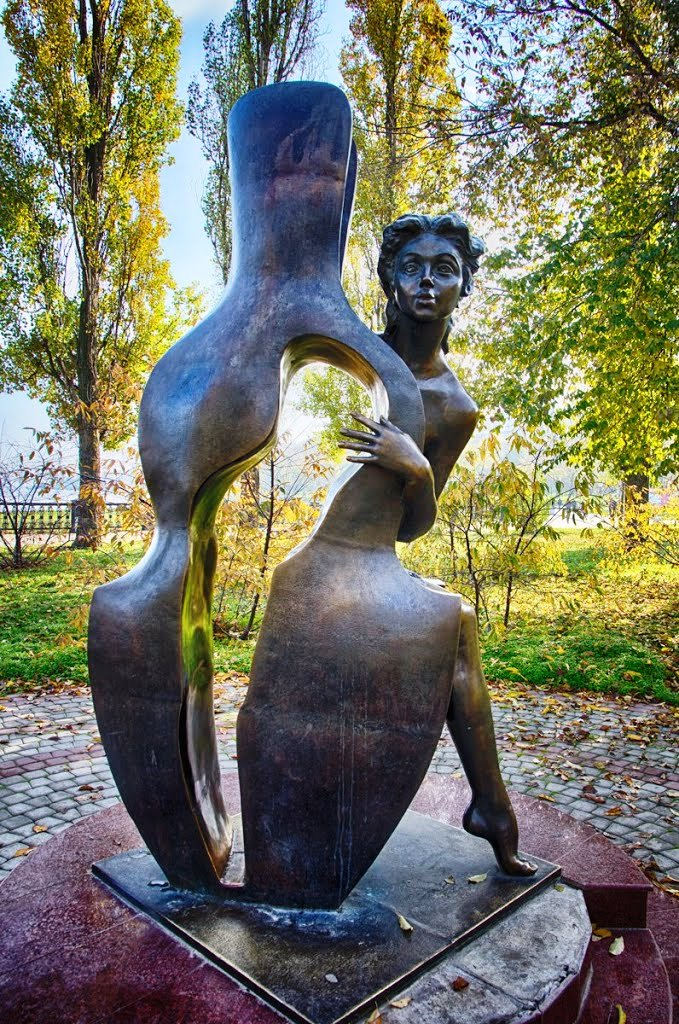 Based on Anton Chekhov's story 'Romance with a double bass' monument in Taganrog