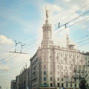 Work by sculptor Gennady Motovilov, ballerina Lepeshinskaya