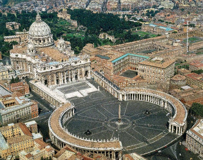 Belfry, which Bernini erected near St. Peter's Cathedral, became the spiritual torment of the architect which lasted for a year. St. Peter's Square and Cathedral, Vatican