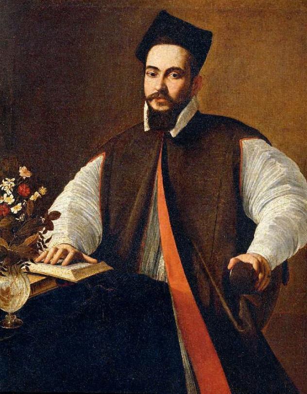 Cardinal Maffeo Barberini, the future Pope Urban VIII, was the patron of Bernini. Portrait of Maffeo Barberini, the work of Caravaggio, 1593