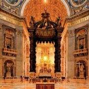 For the pulpit in the main cathedral of Rome and the cognor - the canopy, which denoted the burial place of St. Peter, Bernini paid a lot of money - ten thousand gold scudo