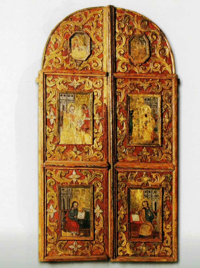 The Holy Gates. 2nd half of the 17th c. Wood, carving, painting. Almany village Church, Stolin district, Brest region