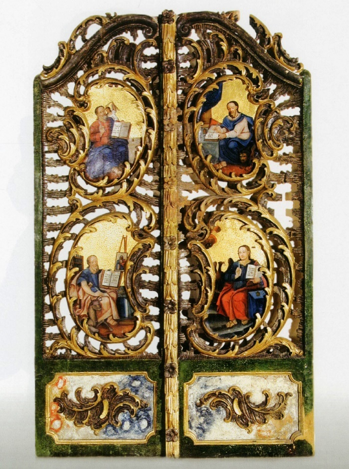 The Holy Gates. Mid 18th с. Wood, carving, gilding, silvering, painting, tempera. Pryluki village Church, Brest district, Brest region