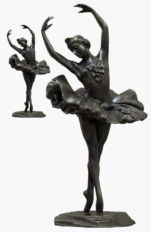 Ballerina Sculpture by Elena Yanson Manizer