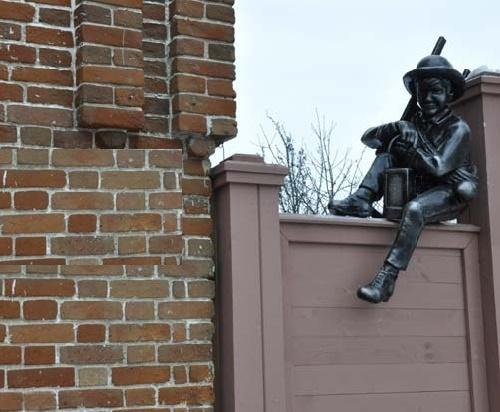 A boy – chimneysweep in Ulyanovsk