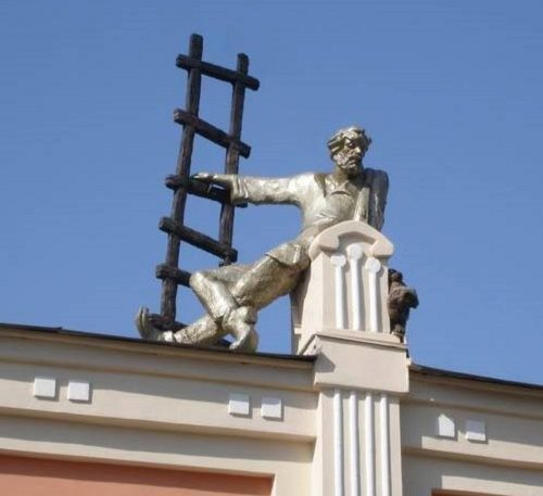 Chelyabinsk Monument to chimney-sweep