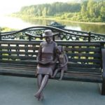 Knitting grandmother monument