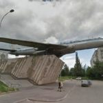 Tupolev Tu-104 monument in Rybinsk