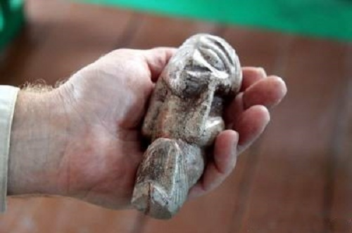 Bronze Age figurine from the village of Pokrovka