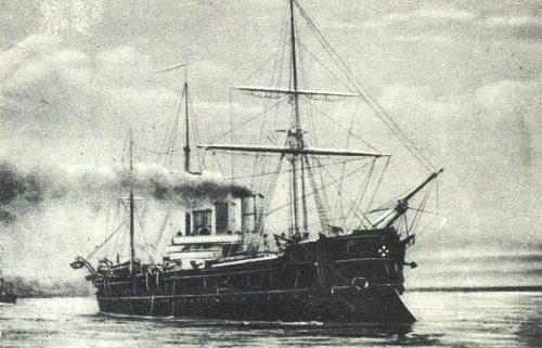 Russian traditional ship sculpture