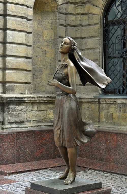 Monument bride in Nikolaev, Ukraine