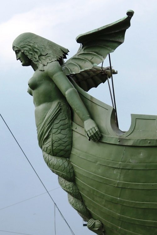 Angel Sculpture of Rostral column of St. Petersburg