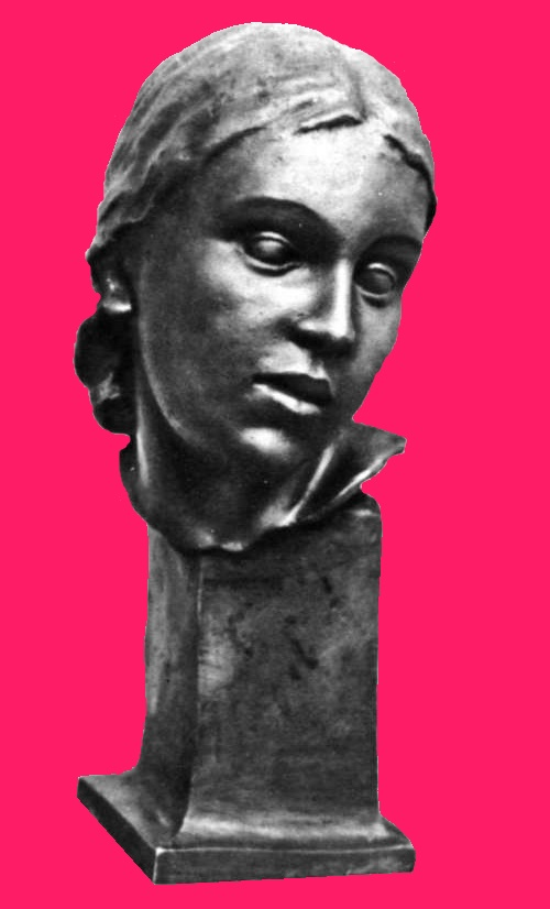Blind Sculptor Ballerina Lina Po. Self-portrait. Bronze. 1940. This self-portrait shows through some grief, concealed sadness about bygone days