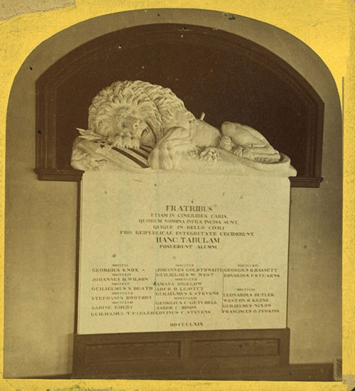A copy of the statue in Colby College (picture mid. XIX century)