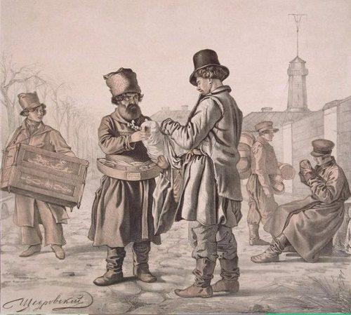 Drawing by Shchedrovsky. Korobeinik