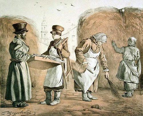 Russian Artist Shchedrovsky. Illustration of Korobeinik