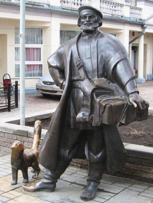 Monument to a merchant peddler in the city of Rostov - on - Don
