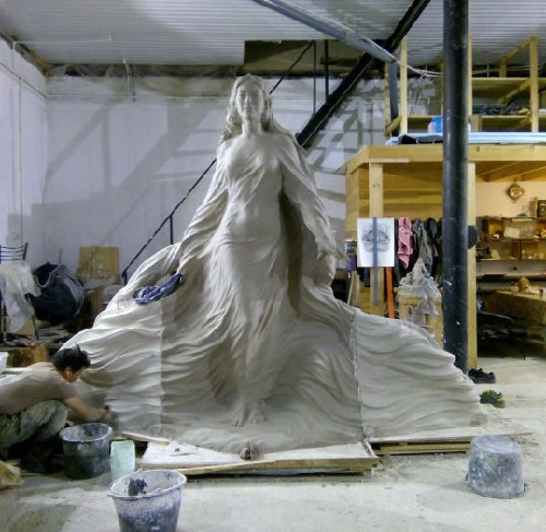 Lena, the Beauty in the workshop of sculptor