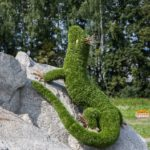 Mistress of Copper Mountain Topiary sculpture