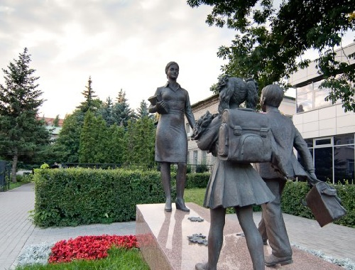 Teacher monuments throughout Russia