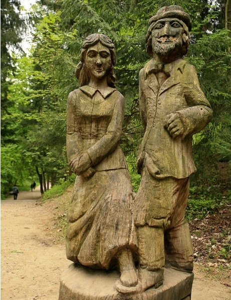Hill of Witches wooden sculpture