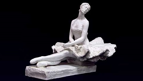 Porcelain figure of Ballerina Plisetskaya. Author - Ilya L. Slonim