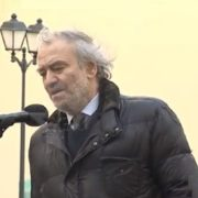 Chief conductor of the Mariinsky Theatre Valery Gergiev speaking at the opening ceremony
