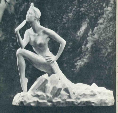 Mistress of the Copper Mountain, 'Stone Flower'. Porcelain, 1959