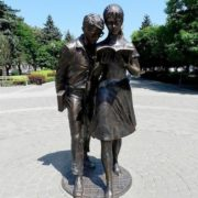 Monument to Shurik and Lidochka in Krasnodar
