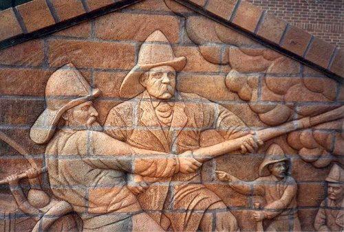 Brad Spencer brick sculptural compositions