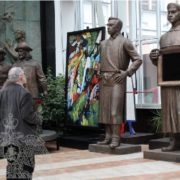 Art exhibition in the Russian Academy of Sciences. Sculptor Zurab Tsereteli