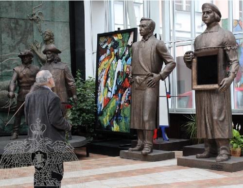 Art exhibition in the Russian Academy of Sciences. Sculptor Zurab Tsereteli