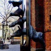 Bremen town musicians monument in Riga