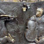Bachelor bronze monument