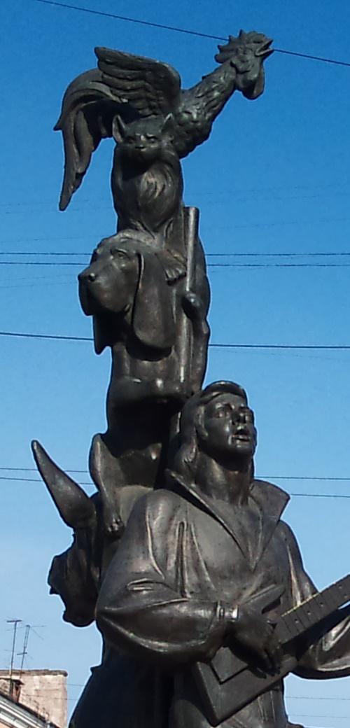 Detail of Krasnoyarsk monument
