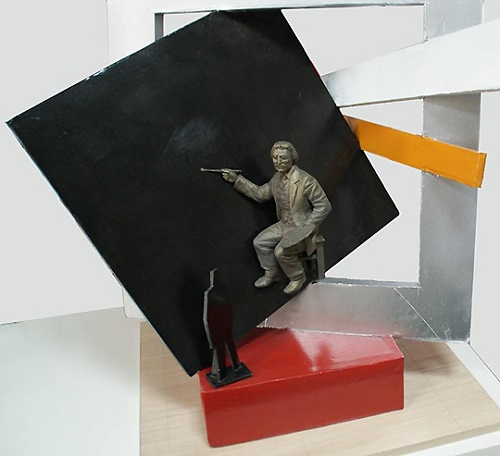 Escaping from the space of the black square Malevich. Sculptor Alexander Rozhnik