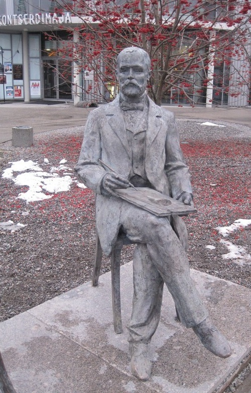 In honor of the 200th anniversary of Gustav Faberge, father of Carl Faberge, appeared a monument in Pärnu, Estonia