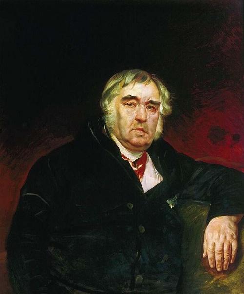 Ivan Krylov (13, 1769 – November 21, 1844). Artist Konstantin Bryullov