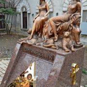 Silver Age. Monument Akhmatova and Tsvetaeva. Odessa