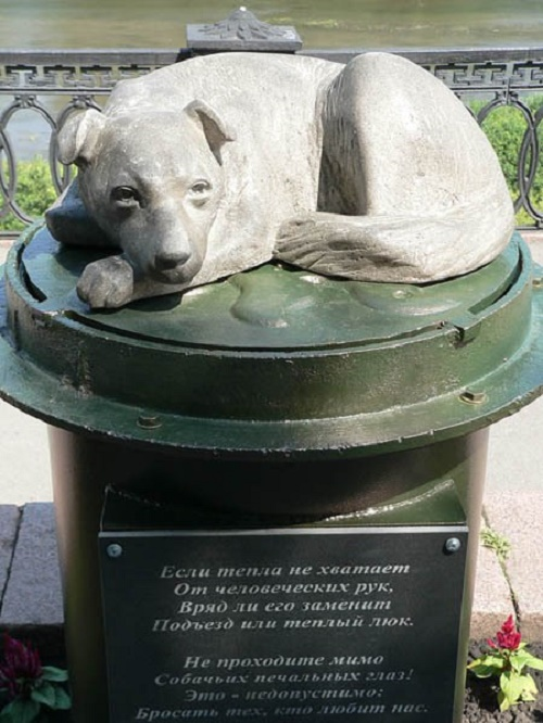 Stray dog monument in Kemerovo