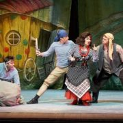 The Bremen town musicians, theater performance in Krasnoyarsk theater of opera and ballet