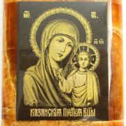 The God Mother of Kazan icon. Material - Simbirtsit